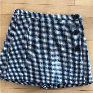Zara kids plaid skirt